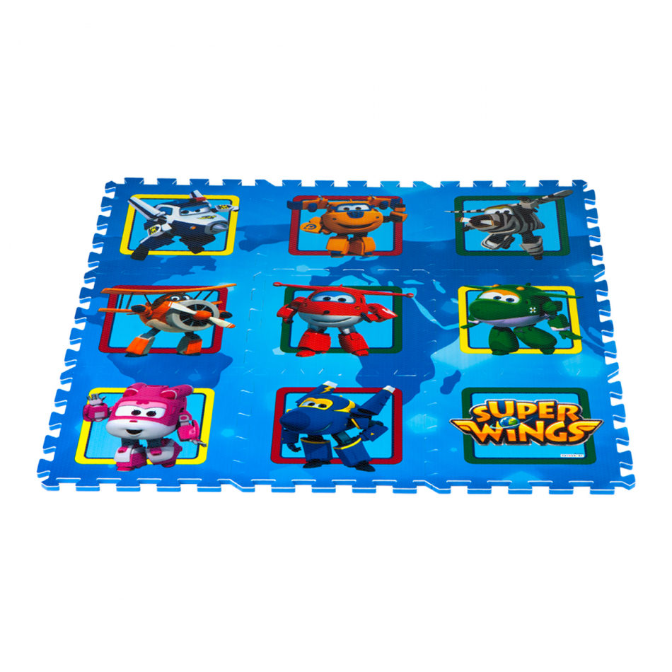 Alfombra puzzle Eva 90 x 90 cm. Super Wings Casillas