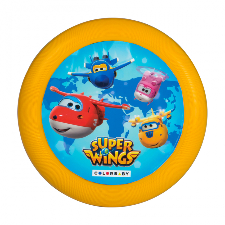 Disco volador diámetro 23 cm. Super Wings amarillo