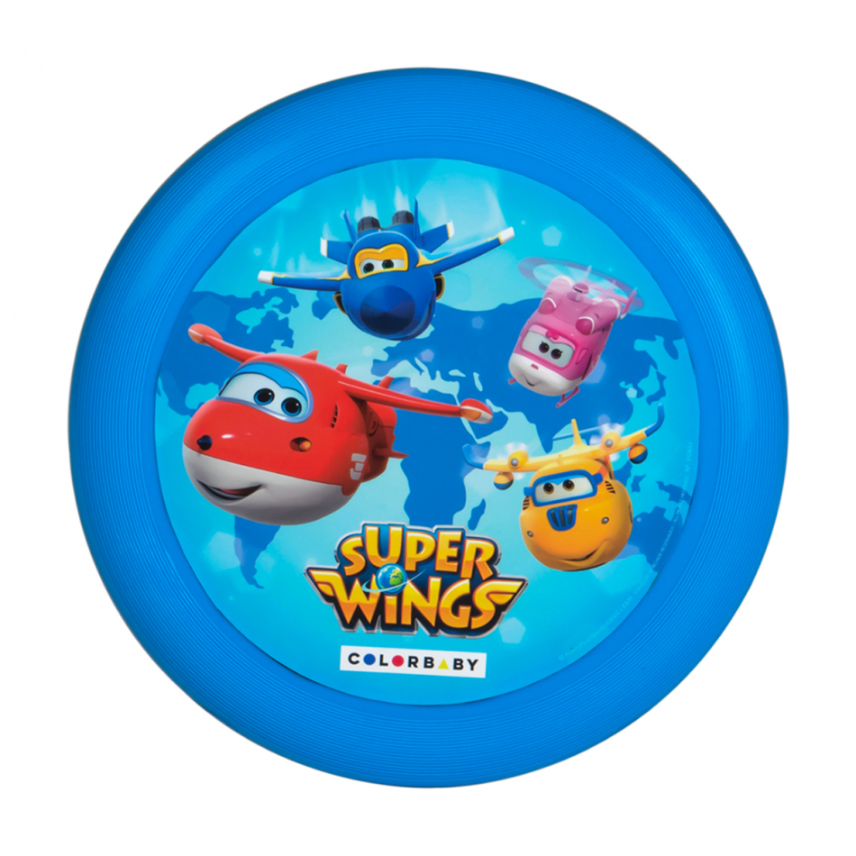 Disco volador diámetro 23 cm. Super Wings azul