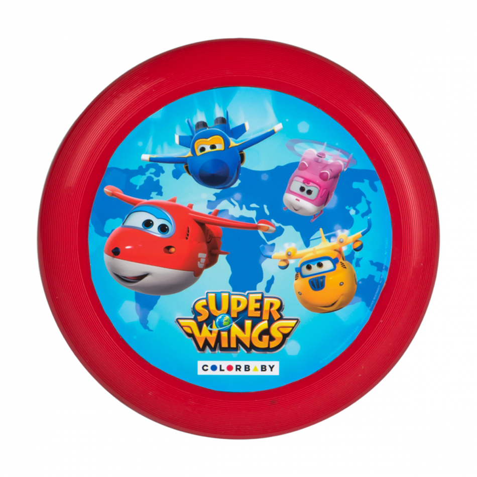 Disco volador diámetro 23 cm. Super Wings rojo