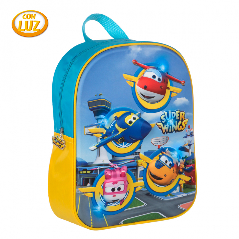 Mochila con led Super Wings Grupo