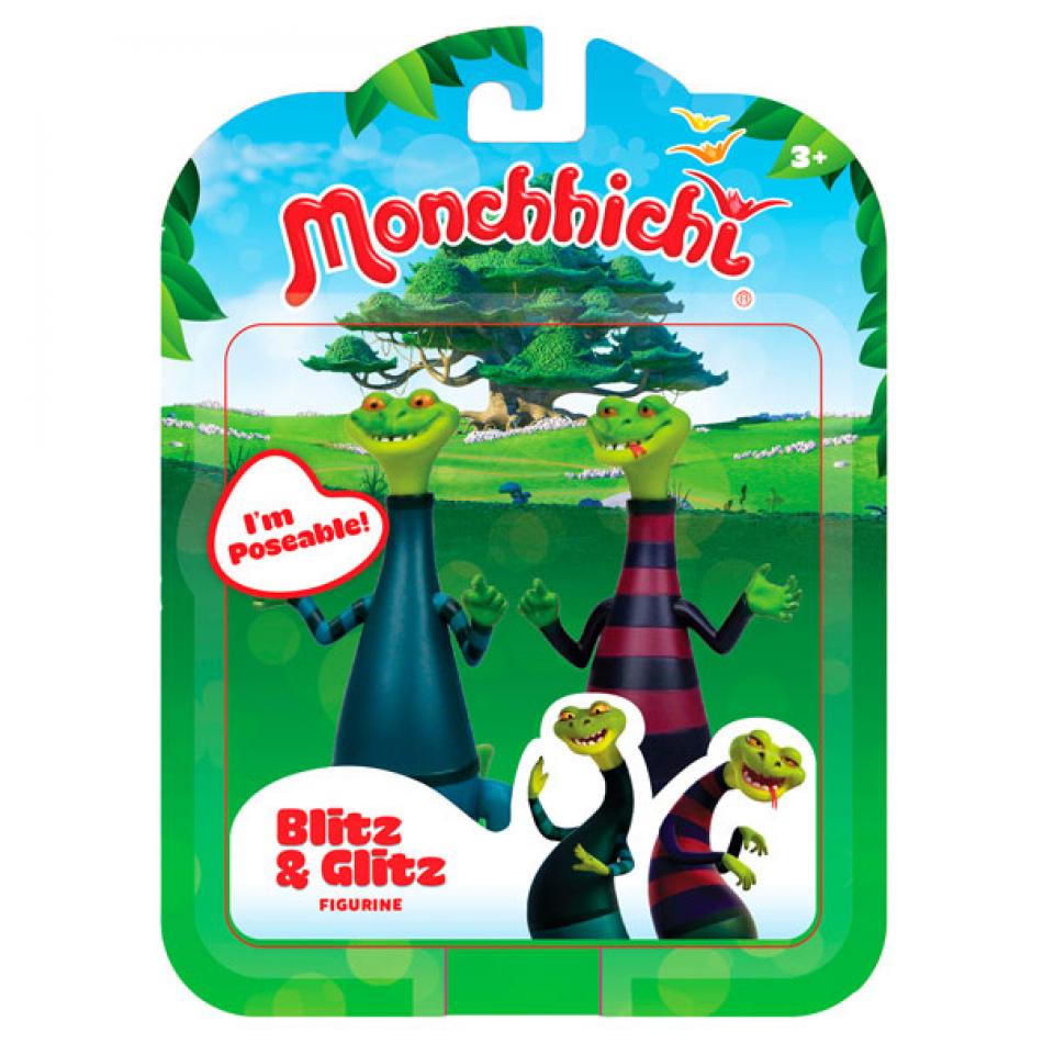 Monchhichi pack 2 figuras Blitz & Glitz