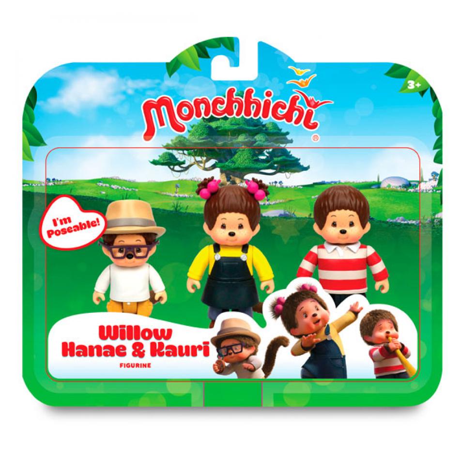 Monchhichi pack 3 figuras Willow/Kauri/Hanae