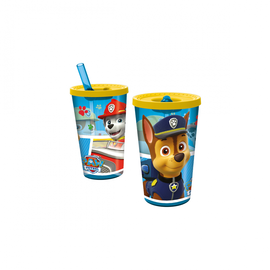 Vaso robot 450ml. La Patrulla Canina Colours