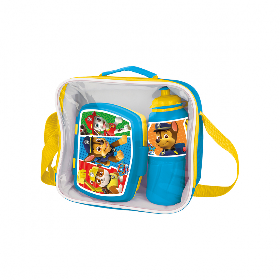 Set back to school (botella sport - sandwichera funny - bolsa aislante) La Patrulla Canina Colours