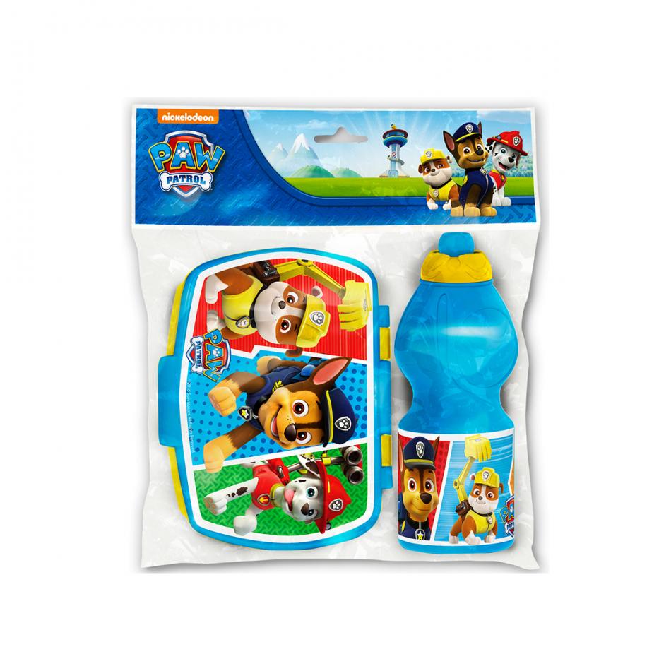 Set vuelta al cole 2 piezas (botella sport y sandwichera) La Patrulla Canina Colours