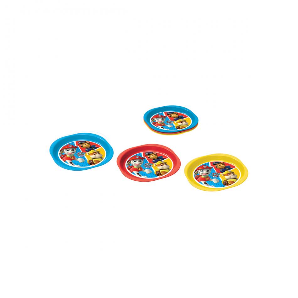Set de 3 platos picnic La Patrulla Canina Colours