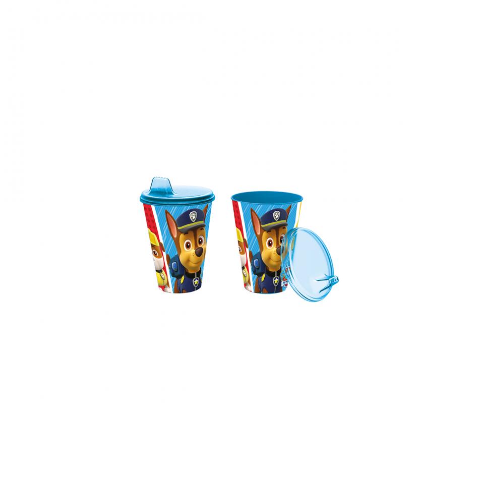 Vaso con sipper easy 430ml. La Patrulla Canina Colours
