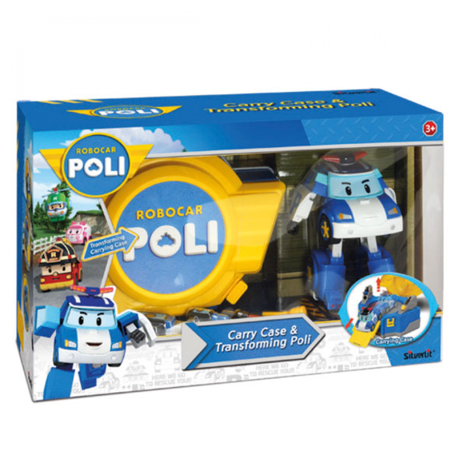 Playset maletín transporte Robocar Poli con personaje transformable Poli