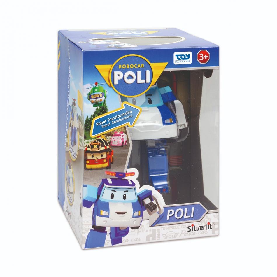 Personaje transformable de coche a robot - Modelo Poli