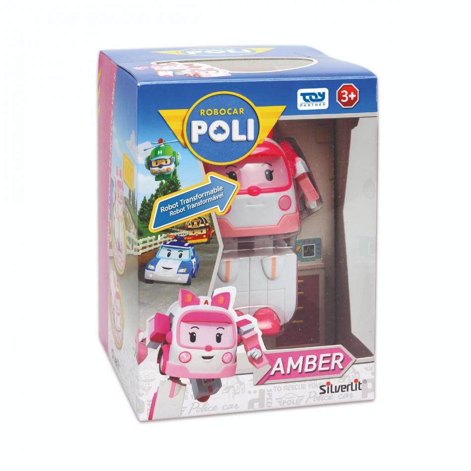Personaje transformable de coche a robot - Modelo Amber