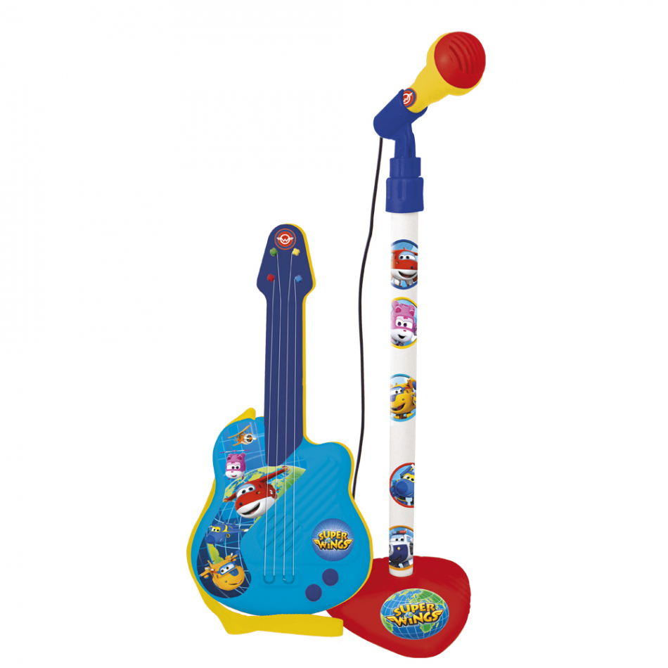 Micro y guitarra Super Wings
