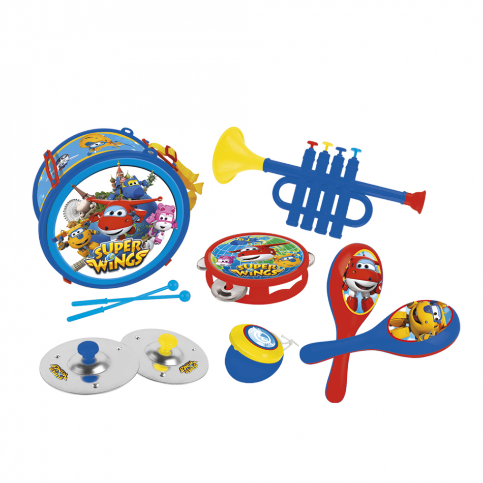 Set de 7 instrumentos musicales Super Wings