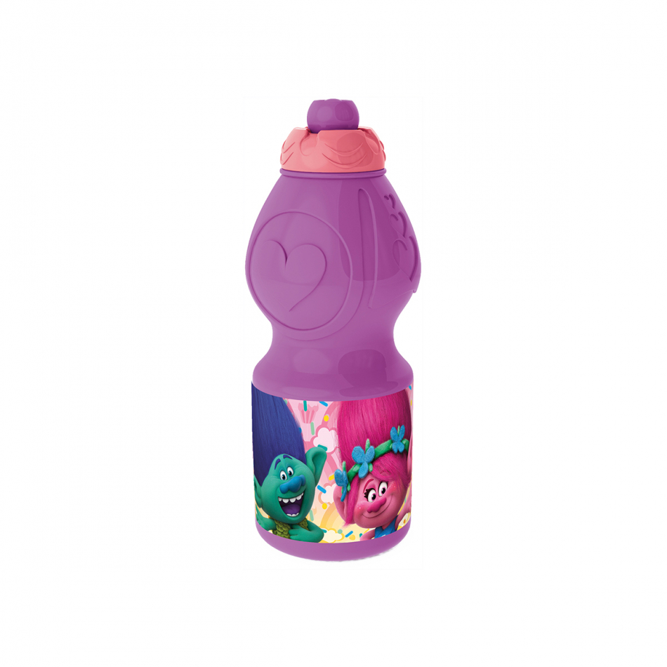 Botella sport 400ml. Trolls