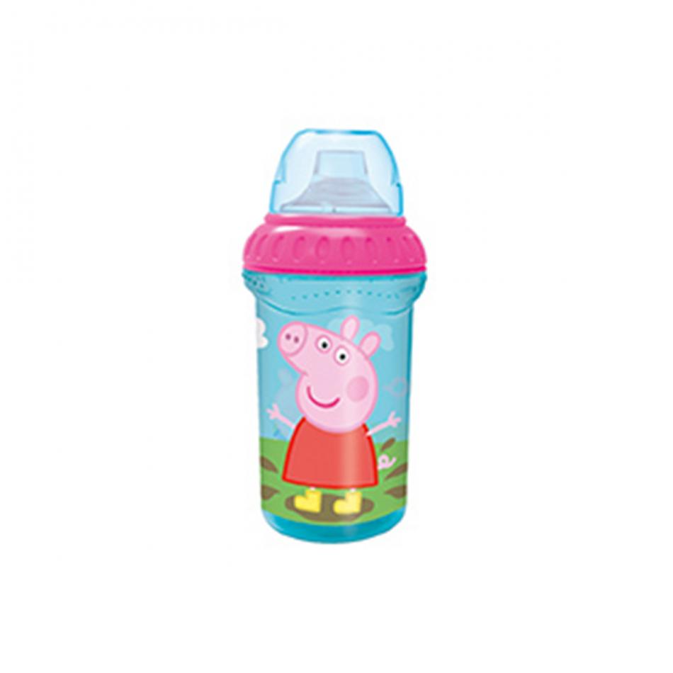 Vaso de entrenamiento grande 330ml. con boquilla de silicona Peppa Pig
