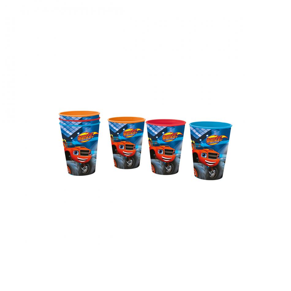 Set de 3 vasos picnic Blaze and the Monster machines