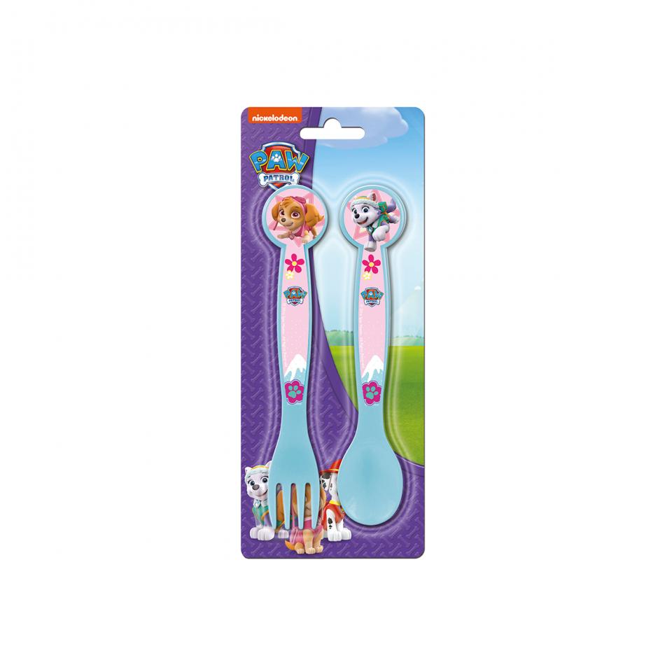 La Patrulla Canina Girl set de cuchara y tenedor