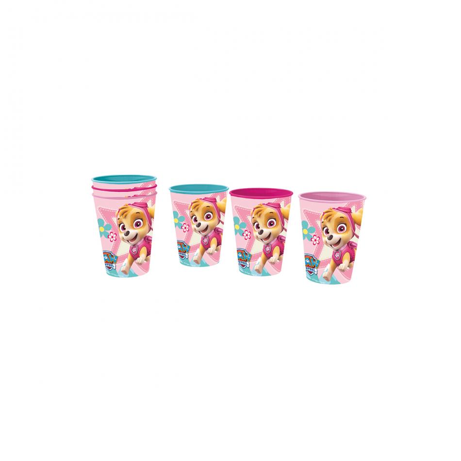 Set de 3 vasos picnic La Patrulla Canina Girl
