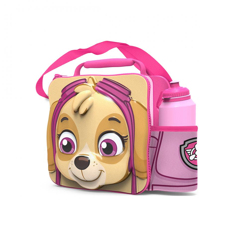 Set bolsa aislante 3D con correa y botella sport La Patrulla Canina Girl Skye