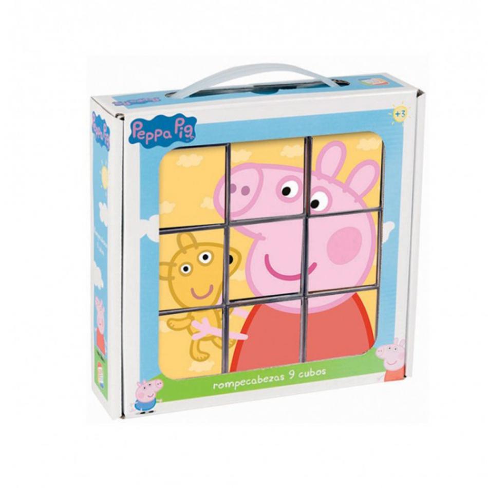 Rompecabezas Peppa Pig 9 Cubos