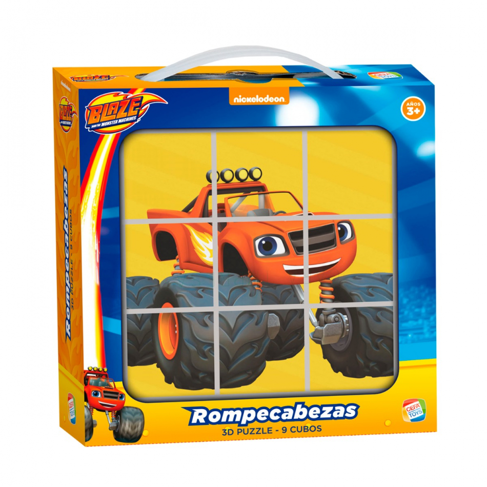Rompecabezas Blaze Y Los Monster Machines 9 Cubos