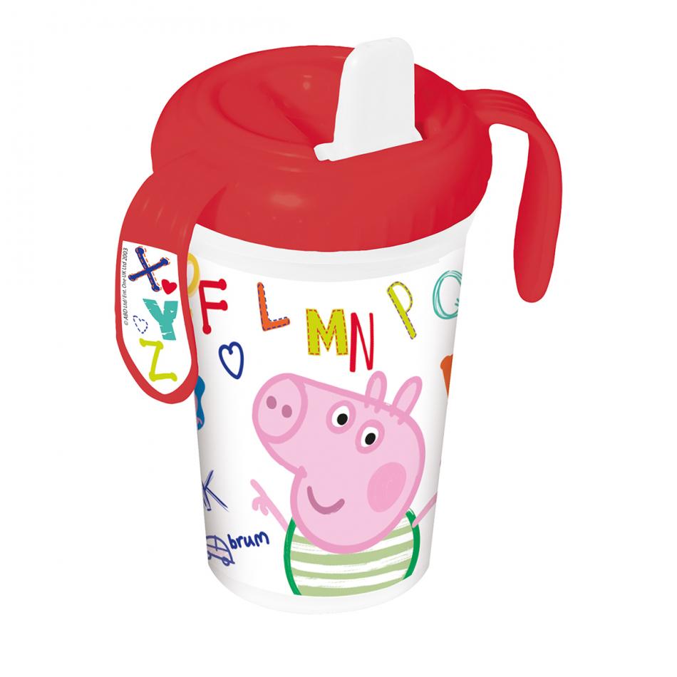 Vaso de entrenamiento bebé 380ml. Peppa Pig Letters