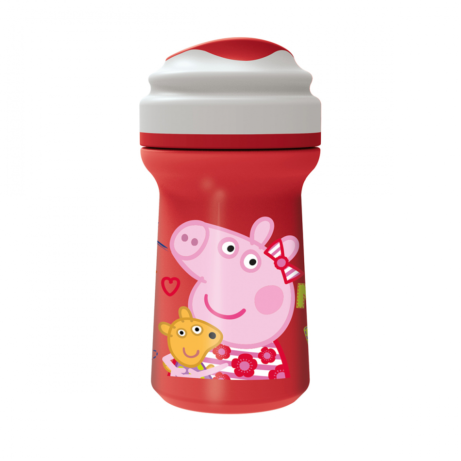 Vaso toddler premium con tapa 274ml. Peppa Pig Letters
