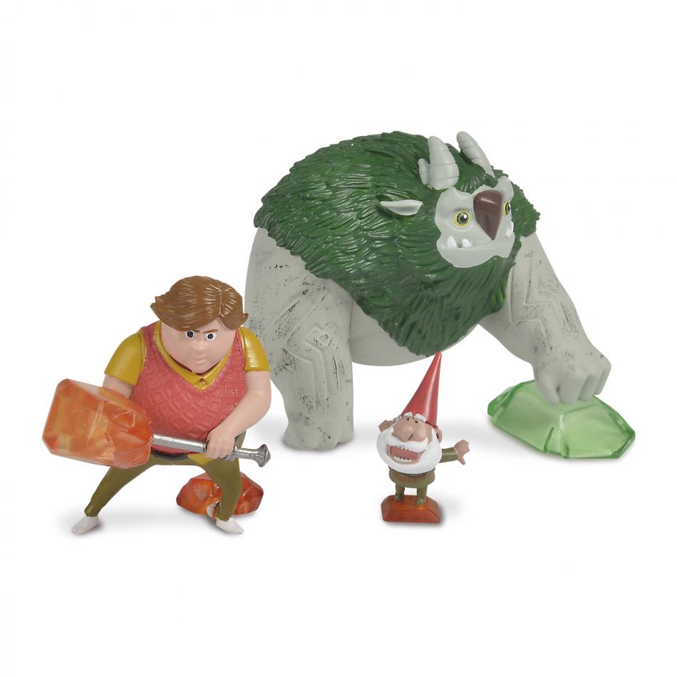Trollhunters - Figuras Toby, Argh y Gnome