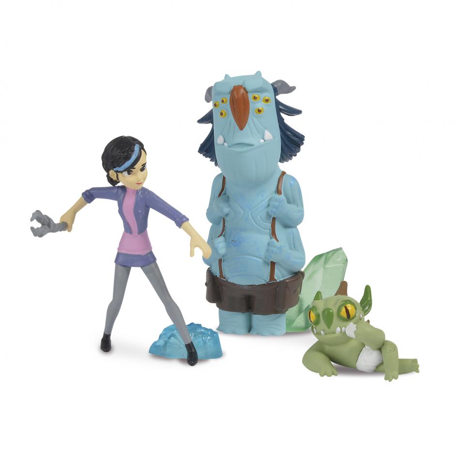 Trollhunters - Figuras Claire, Blinky y Notenrique