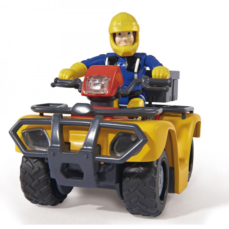 Sam el bombero - Quad Mercury con figura articulada, luz y sonido