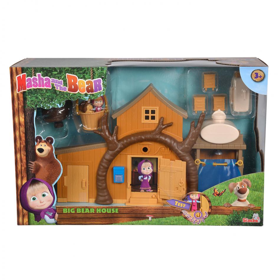 Masha y el Oso - Playset Gran Casa del Oso con 2 figuras y accesorios