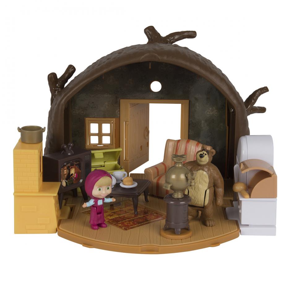 Masha y el Oso - Playset Casa del Oso con 2 figuras y accesorios