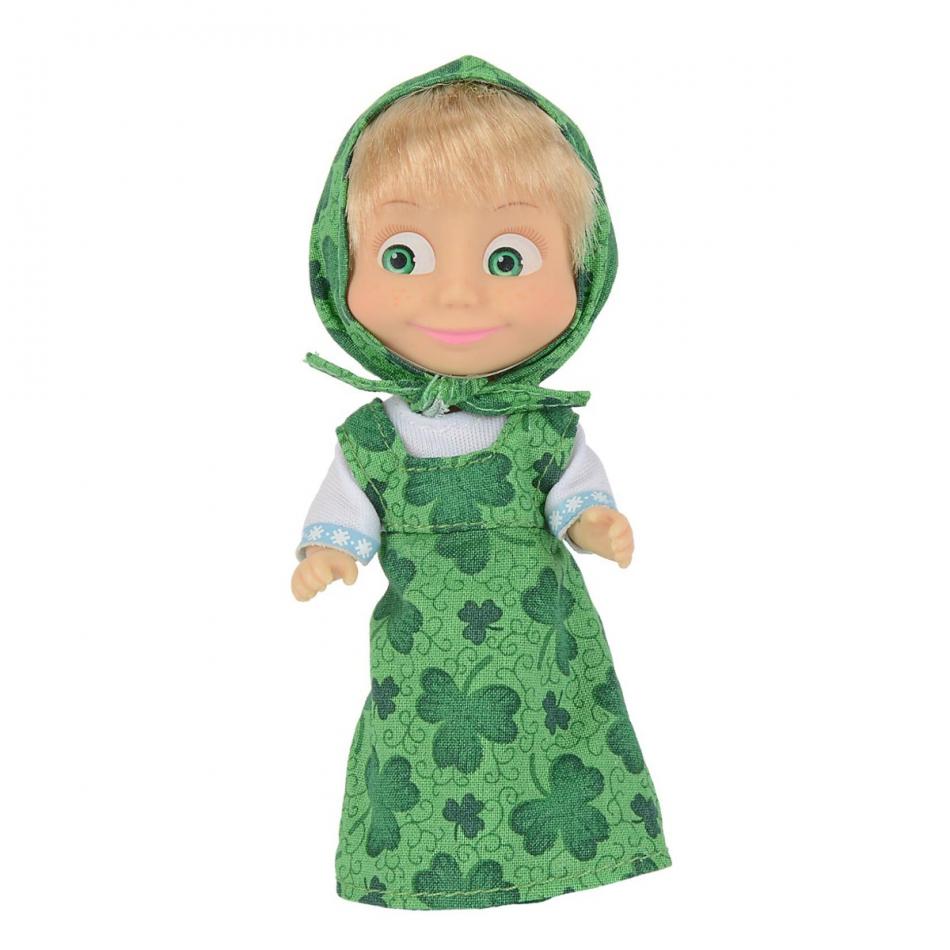Masha y el Oso - Muñeca 12cm vestido verde