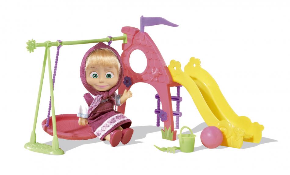 Masha y el Oso - Muñeca 12cm con parque de juegos