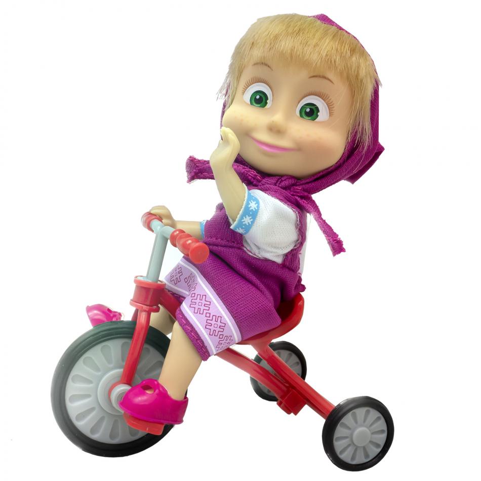 Masha y el Oso - Muñeca 12cm con triciclo