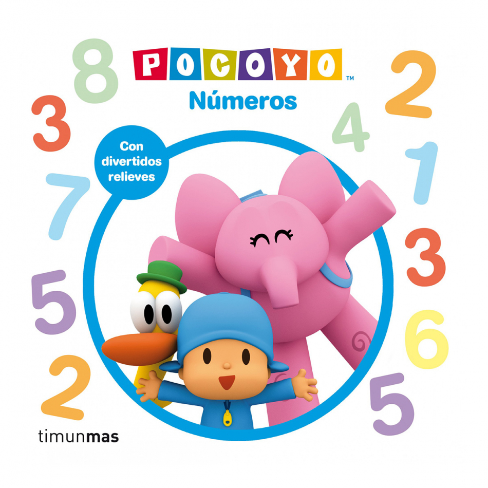 Pocoyo. Números. Relieves
