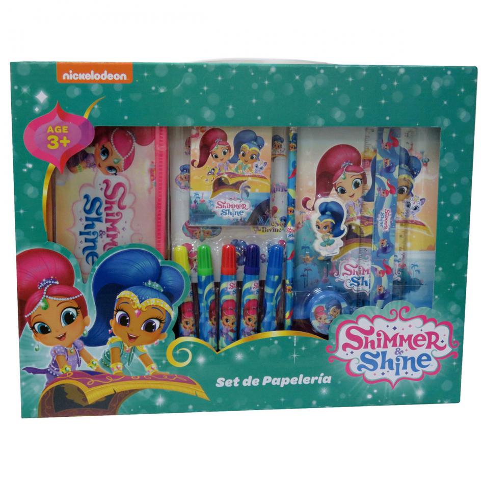 Set de Papelería 20piezas Shimmer y Shine
