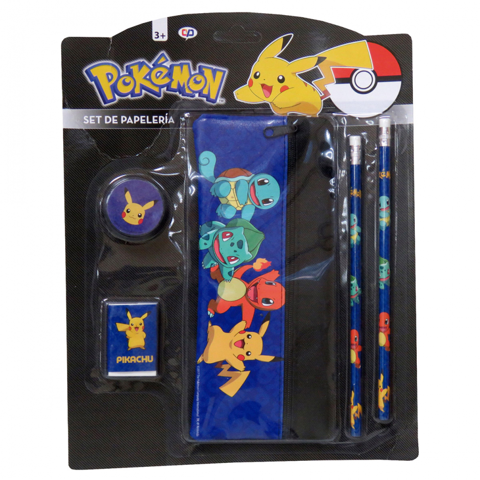 Set de Papelería con Estuche Pokémon