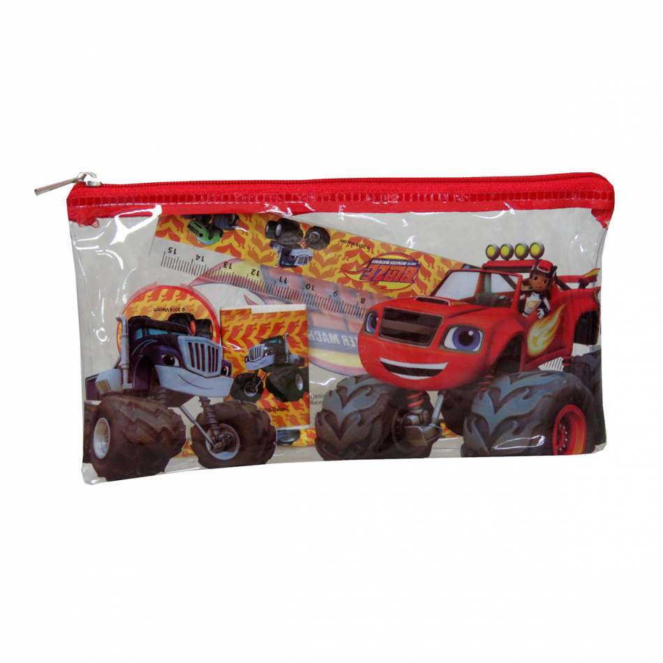 Estuche con material escolar Blaze and the Monster machines