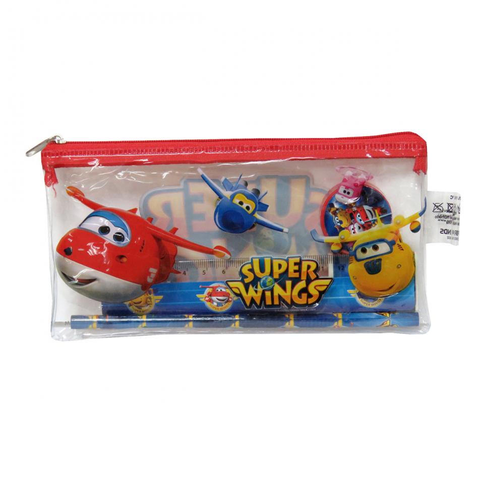 Estuche con Material Escolar Super Wings