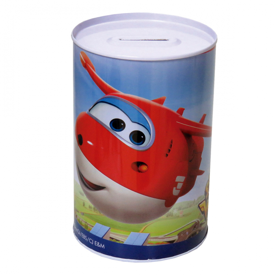 Hucha Cilíndrica Mediana Super Wings