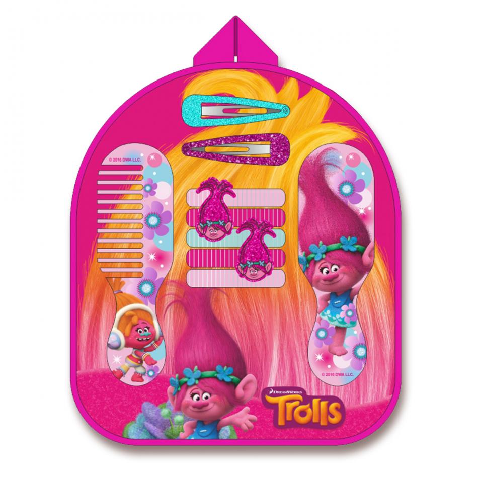 Mochila accesorio para pelo 12 piezas Trolls