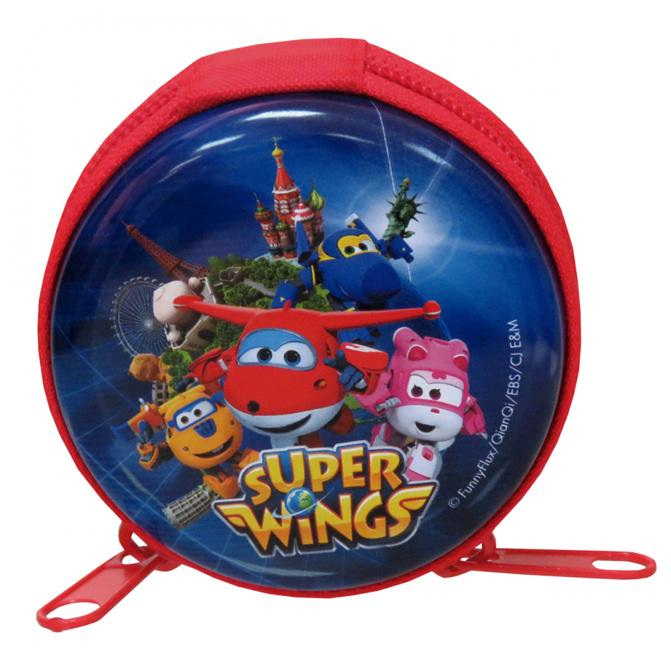 Monedero De Metal Redondo Super Wings