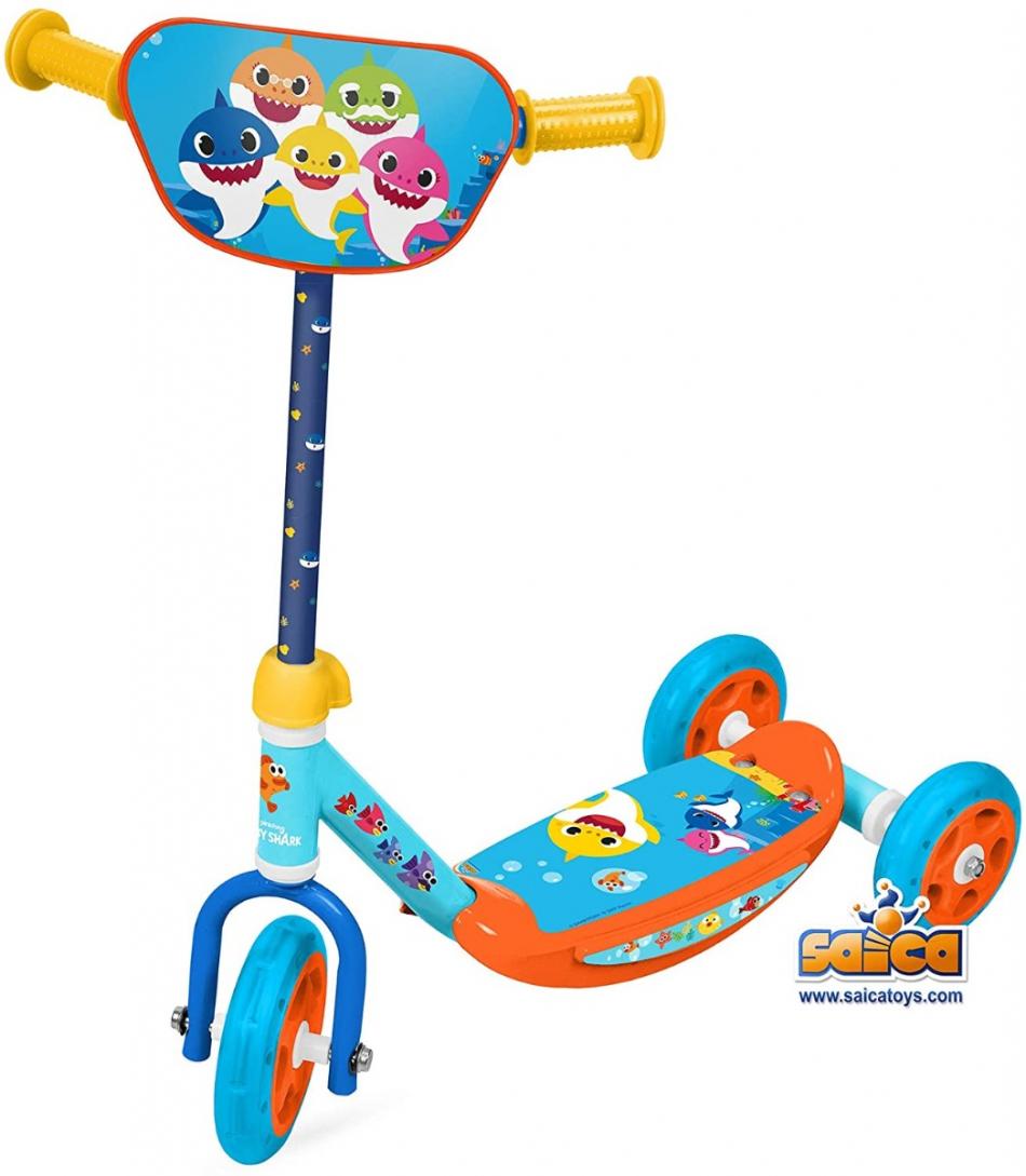 Baby Shark - Patinete de 3 ruedas