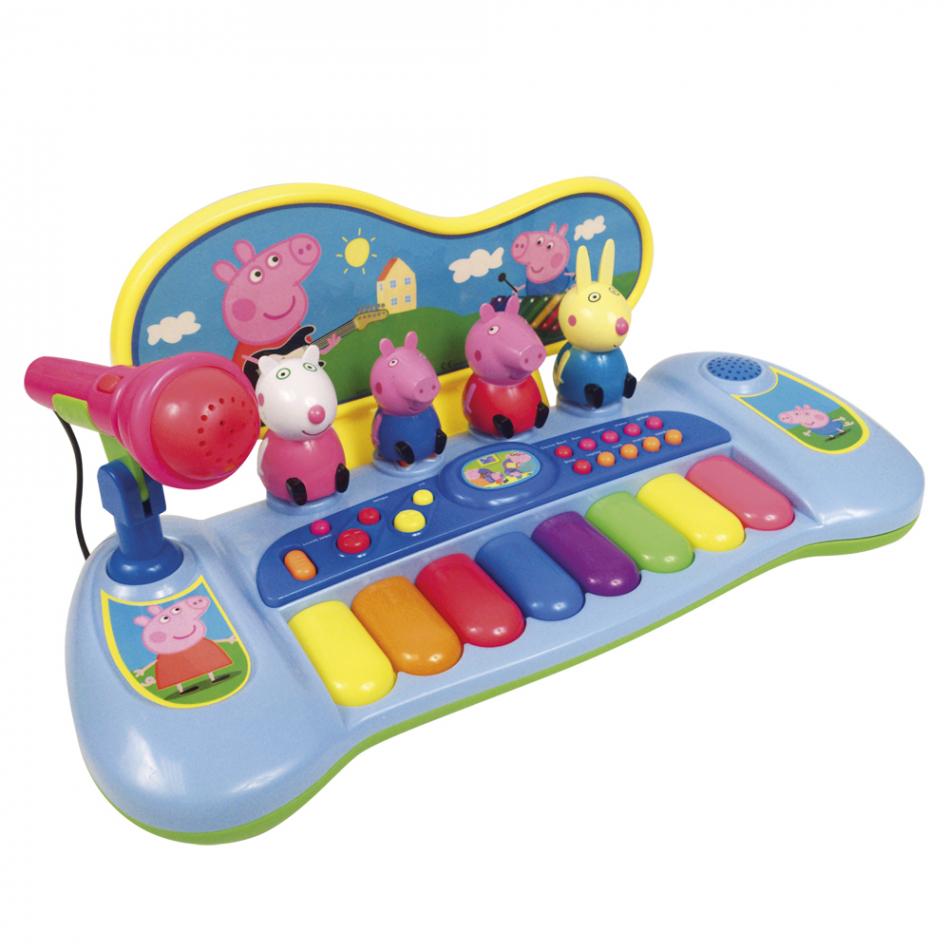 Organo con personajes, melodías y micro Peppa Pig