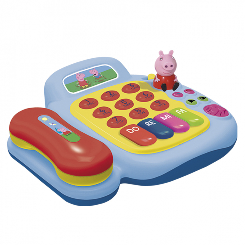 Teléfono y piano con figura Peppa Pig