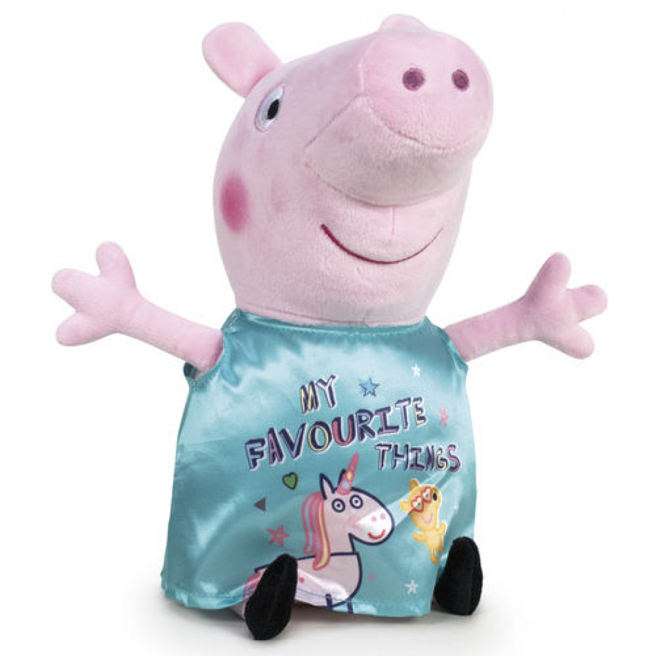 Peluche Peppa Pig vestido celeste - Peppa Pig It's Magic - 27cm