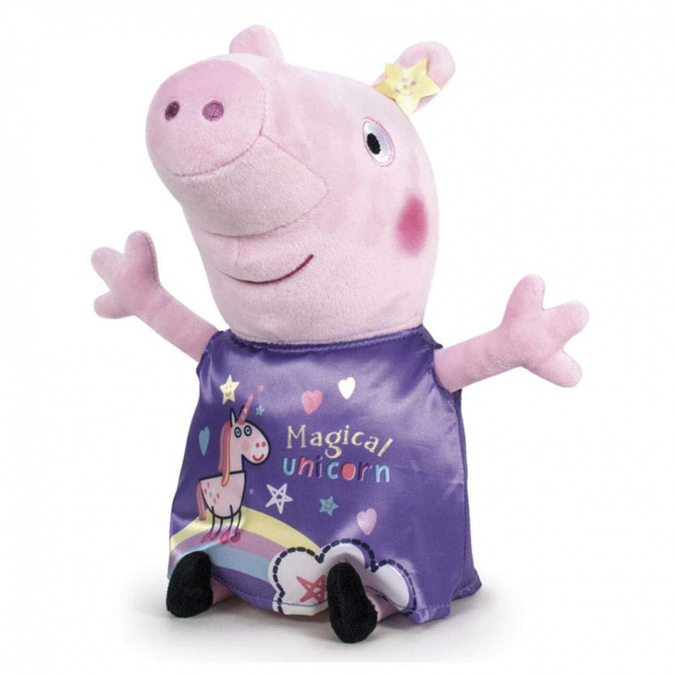 Peluche gigante Peppa Pig vestido violeta - Peppa Pig It's Magic