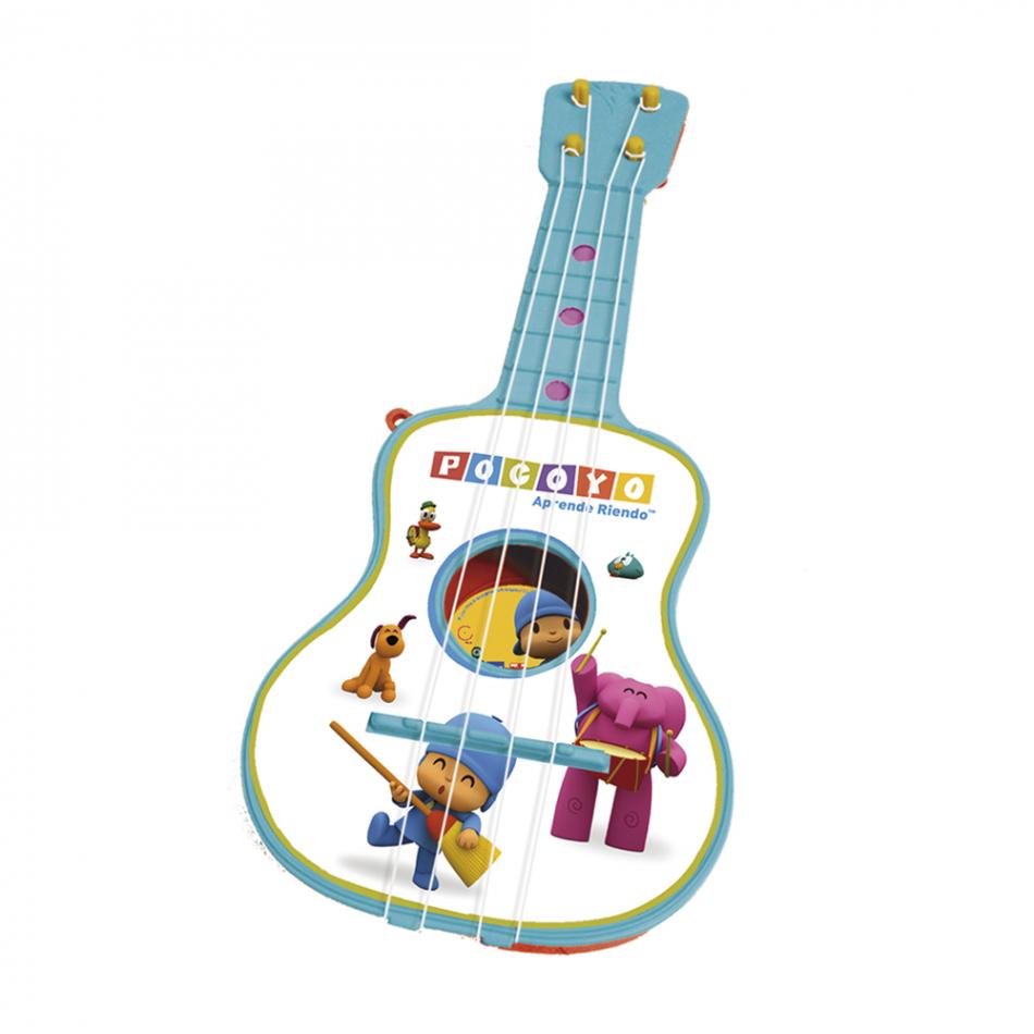 Guitarra de 4 cuerdas en estuche Pocoyo
