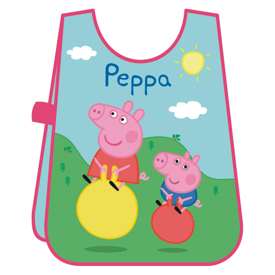 Delantal sin mangas de PVC Peppa y George Peppa Pig